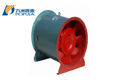 Fire - Control Industrial Axial Fans Around Shape With Less Than 80℃ Gas Temp