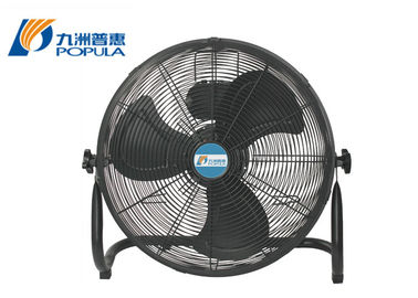 Modern Portable Electric Table Fan Low Noise Black Color For Home / Office