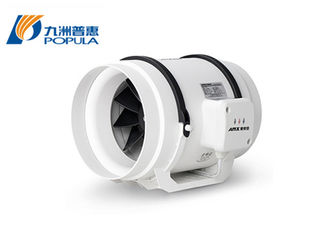 Mixed Flow  8 Inch Inline Duct Fan Circular Extractor Fan CE ISO 9001 Certificate
