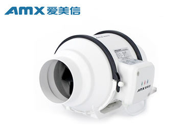 High Static Pressure 4 Inch Inline Duct Fan , Circular Exhaust Fan For Office