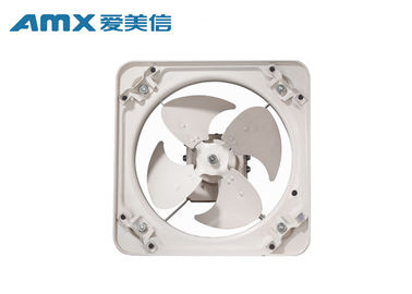 White Square Exhaust Fan , Square Exhaust Fan 1400-3300 R/Min Speed